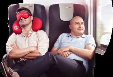 Testimonials Werbeanzeige der ÖBB-Kampagne RAILAXED