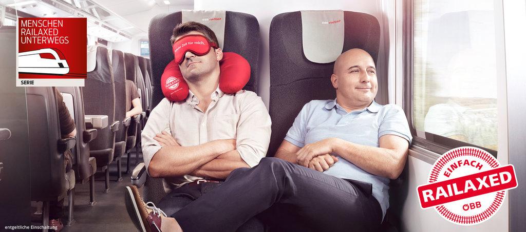 """Abbildung 2: Werbesujet der ÖBB-Kampagne """"RAILAXED"""""""