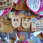 Ema (einseitig bemalte Holztäfelchen) in Nara