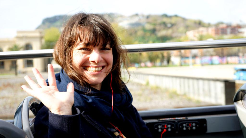 Ich im Sightseeingbus