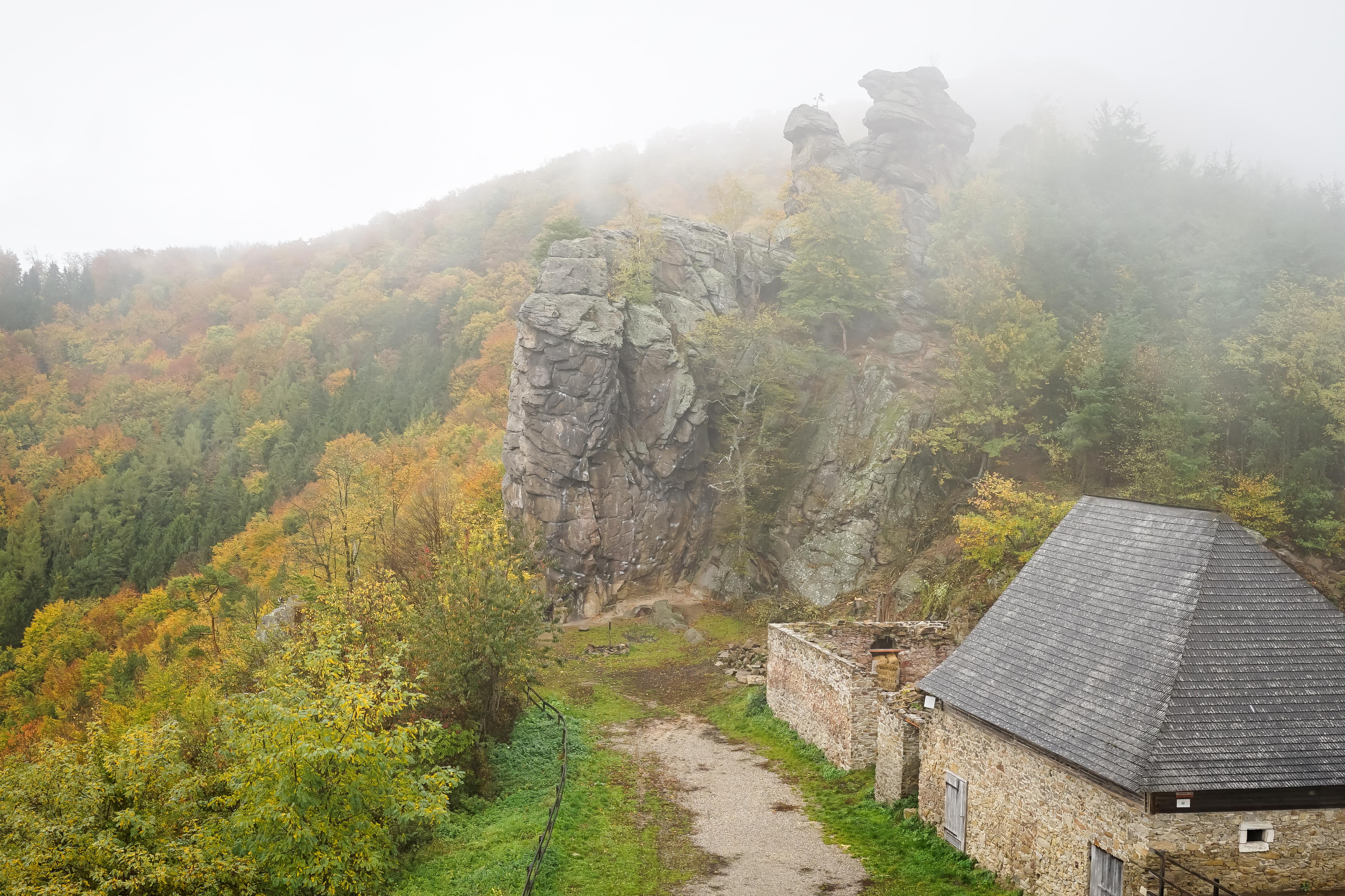 Nebel Burgruine Aggstein