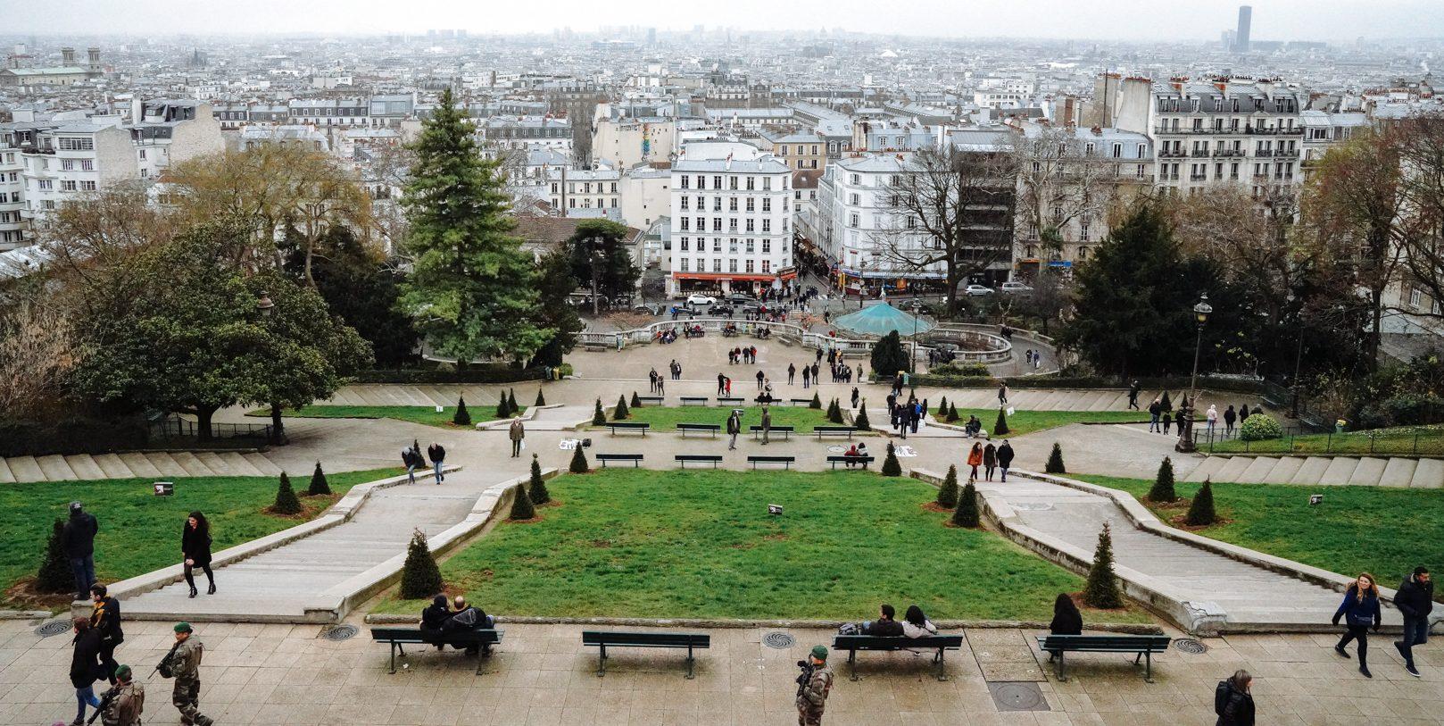 Sacré Cœur Ausblicke auf Paris