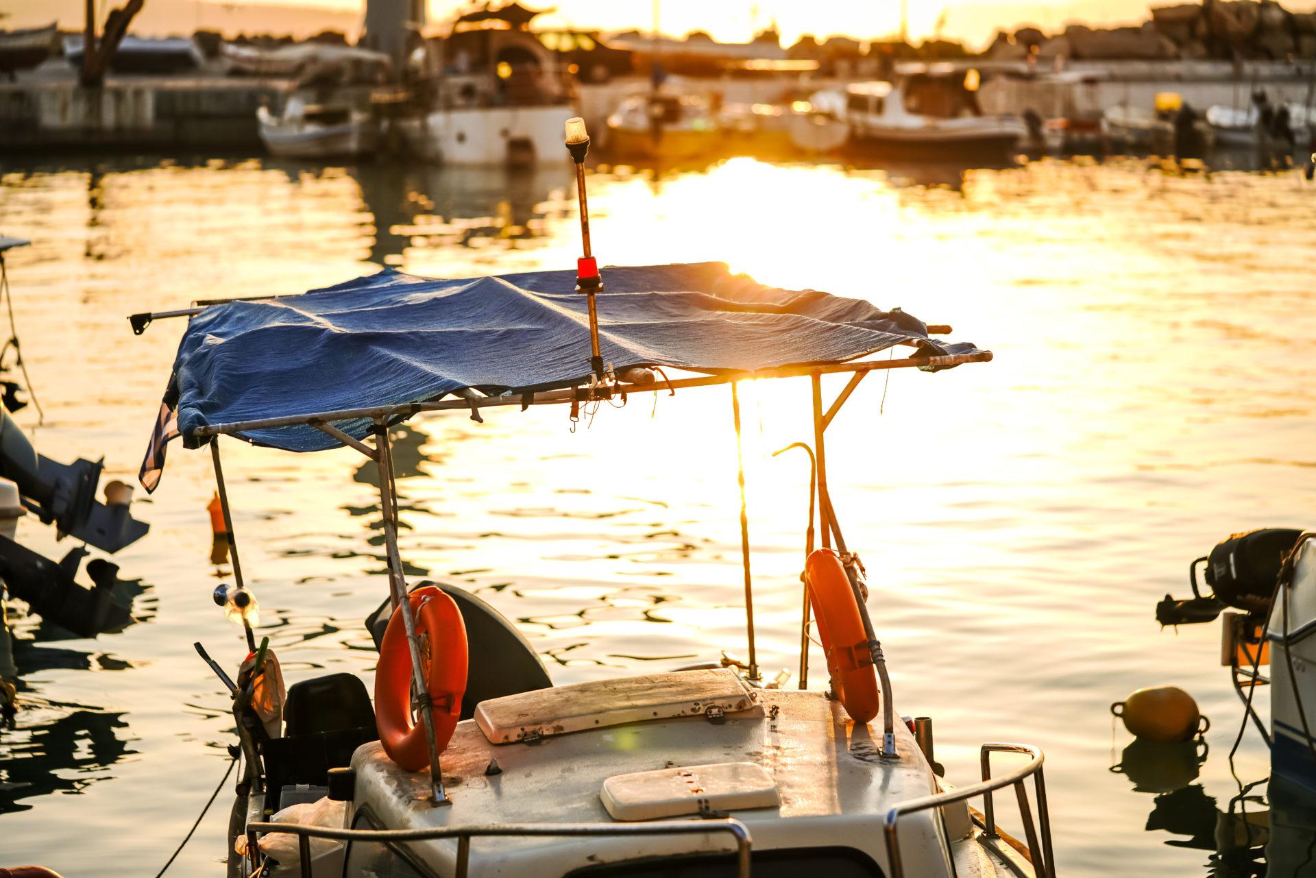Boot Hafen Chania Kreta